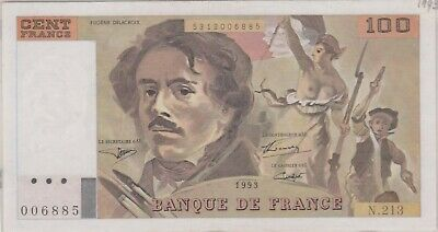 (N36-34) 1978 France 100 Francs bank note (AI)