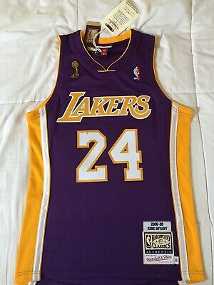 cheap for discount 1a318 97f88 100% AUTHENTIC KOBE Bryant Mitchell Ness 08 09 Lakers NBA Jersey Size Mens  36 48