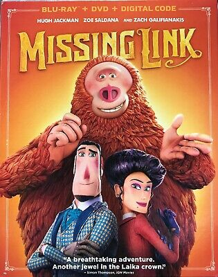 MISSING LINK Blu-ray + DVD + Digital, W/ SLIPCOVER Brand New FREE SHIPPING