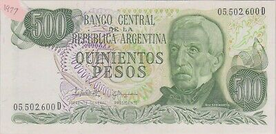 (N36-4) 1977 Argentina 500 peso bank note (D)