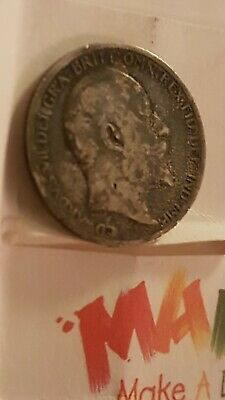 MADaboutART rare 1904  sixpence  uncleaned  dark toning