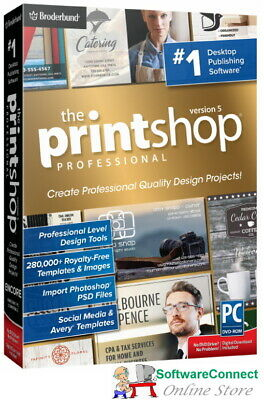 Broderbund PrintShop 5 Professional Print Shop Pro GENUINE GUARANTEE