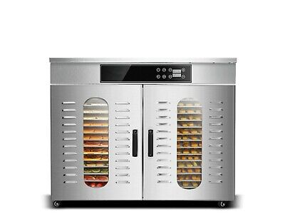 Bench Foods 32H-CUD | Dual Zone Commercial Food Dehydrator | 32 Tray - 5.12m²