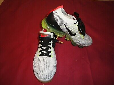 Nike Air Vapormax Flyknit 3 White Black Volt Mens Size 10 BRAND NEW OUT OF BOX