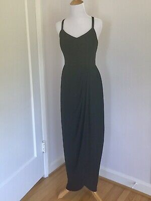 Vintage 1960s Hollywood Style Black Draped Long Evening Gowns Sm/Med Jack Bryan