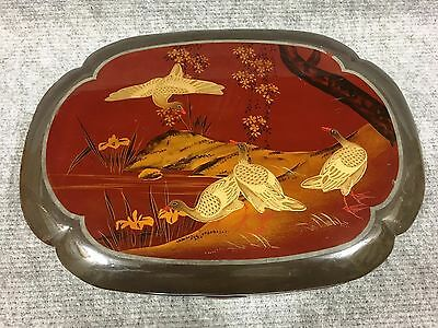 Wooden Lacquer Ware Box Case Measures 28 x 20 cm tall 6 cm