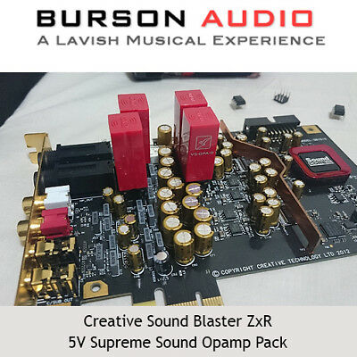Creative Sound Blaster ZxR Soundcard upgrade pack with V5 Op-Amps