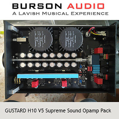 GUSTARD H10 Headphone Amp V5 SS Opamp upgrade pack