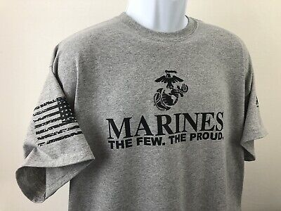 Marine Corps The few the Proud TShirt Military USMC American Warrior USMC