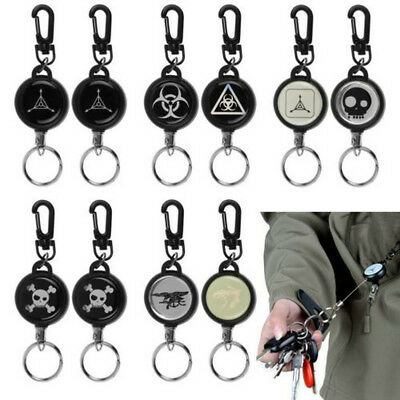 Retractable Heavy Duty Pull Reel Badge Key Chain Belt Clip ID Card Holder 1PC
