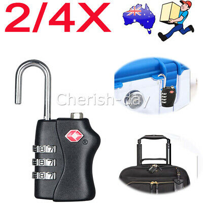 2/4x TSA Approved Combination Padlock Lock Luggage Suitcase Security Code Travel