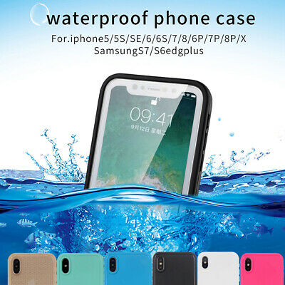 Waterproof Shockproof Hybrid Rubber TPU Case Cover For iPhone 10 XSMax 8 7 Plus