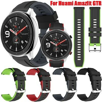 For Huami AMAZFIT GTR 47mm Smart Watch Silicone Sport Loop Wrist Band Strap 22mm