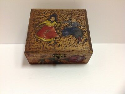 Antique Flemish Wooden Dutch Childer Box
