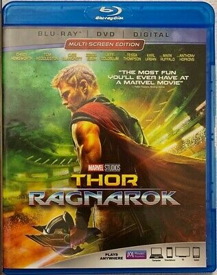 Disney Marvel Thor Ragnarok Blu Ray Dvd 2 Disc Set Free World Wide Shipping Buy