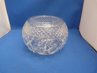 Collectable Small Clear Glass Round Heavy Fruit Bowl Dish H12cm W15.5cm