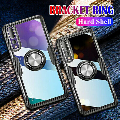 For Huawei P30 P20 Mate20 Pro Lite Clear Hybrid Armor Ring Stand Hard Case Cover