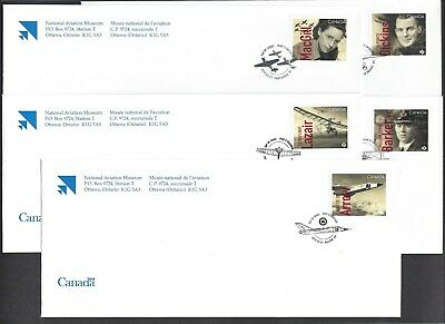 2019 Canadians in Flight Limited FDCs with stamps from Pane