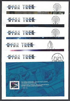 2017 Star Trek Limited FDCs from Prestige Booklet Stamps