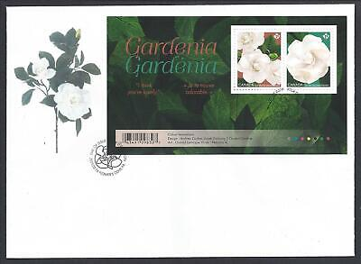 2019 Gardenia Flowers Limited FDC with Souvenir Sheet