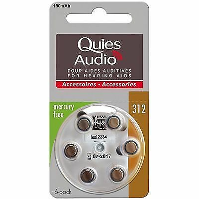 QUIES Audio Piles Modèle 312 x6