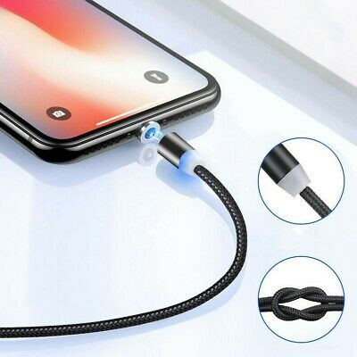 2A Magnetic Charging Cable LED Adapter Charger For Type C Android Micro USB