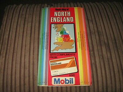 vintage map of north England from mobil & nat west
