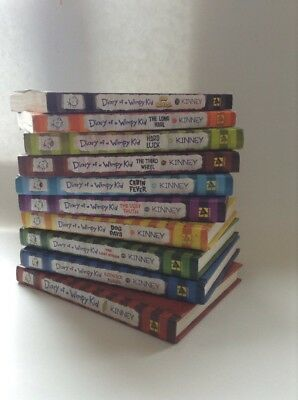 Diary of a Wimpy Kid Hardcover/Paperback Mixed Lot 1-10 Jeff Kinney *Free Ship*