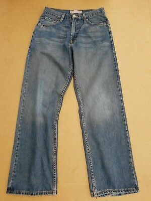 F709 Boys / Girls Levi Strauss 569 Blue Loose Straight Jeans Age 18 Reg W30 L30
