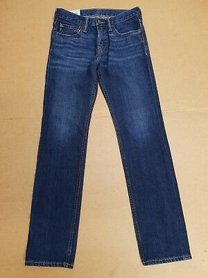 I648 Boys/Girls Abercrombie Faded Blue Straight Leg Jeans Age 12 Years W26 L28