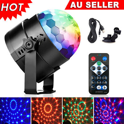 RGB LED Disco Light Home Party Crystal Magic Ball Strobe Effect Lamp With Remote