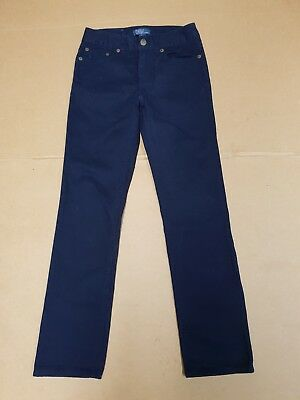 I56 Kids Ralph Lauren Blue Straight Leg Cotton Jeans Age 8 Years W23 L26