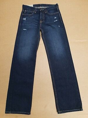 I652 Boys/Girls Faded Blue Slim Torn Denim Jeans Age 14 Years W28 L29