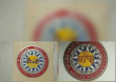 American Society of Military Insignia Collectors Sticker & Patch unused