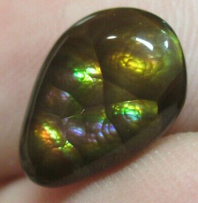 MEXICAN Fire Agate Gemstone Free form Natural Multicolored 11x8