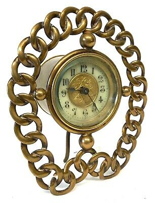 Stunning Vintage Clock With Chain Link Frame Very Rare