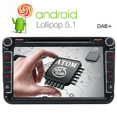 "8"" Autoradio DVD CD GPS WLAN Bluetooth Android für VW PASSAT GOLF SEAT TOURAN T5"