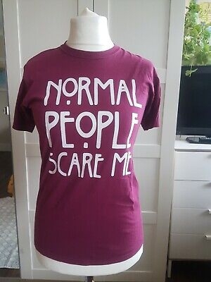 American Horror Story Normal People Women's Top Red UK 10 size S