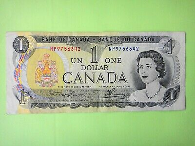 Canada Ottawa 1973  $1 Dollar  Paper Banknote  Circulated Condition EF+