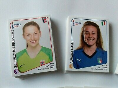 Panini Wc Coupe Du Monde Women France 2019 Lot De 10 Images Stickers Au Choix