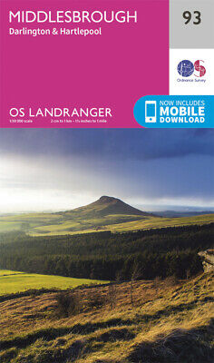 Ordnance Survey Landranger 93 Map Middlesbrough