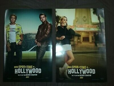 "Once Upon a Time in Hollywood 11"" x 17"" Chirashi Movie Mini Poster  Lot of 2"