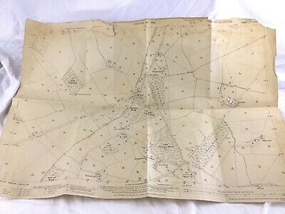 1910 Antique Map of East Sussex Shortgate Village Lewes Laughton Common