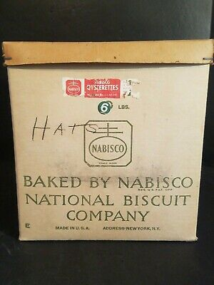 Vintage Cardboard Box National Biscuit Company Nabisco 10 x 10 x 11 Advertising