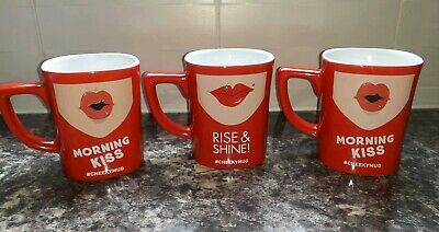 3 Red Square Coffee X Nescafe Mugs Cheeky nOPXwk08