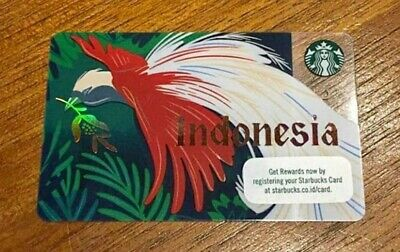 Starbucks Gift Card Indonesia Newest Release August 2019 Bird Red
