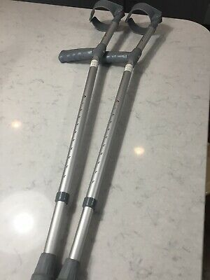 Pair Of (2) Coopers  Mobility Lightweight Crutches Max User Weight 159 Kg
