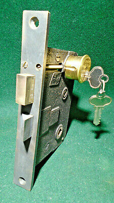 LOCKWOOD T-5000 ENTRY MORTISE LOCK w/CYLINDER & KEYS - EXCELLENT COND (12297)
