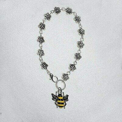 Daisy Chain / Enamel Bumble Bee Car Rear View Mirror Hanging Charm Gift