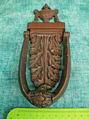 Reclaimed Superb Antique Victorian Heavy  Solid Bronze / Brass  Door Knocker